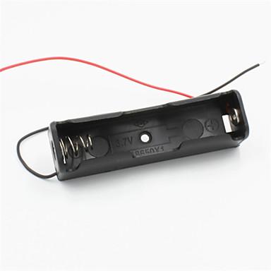 bricolage 1 fente support 18650 de la batterie w / 2 fils - noir
