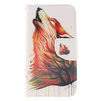 hoesje Voor Samsung Galaxy Samsung Galaxy hoesje Kaarthouder Portemonnee met standaard Flip Volledig hoesje dier PU-nahka voor S5 Mini