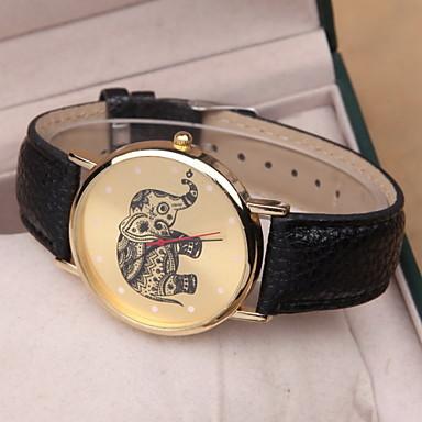 Dames Modieus horloge Kwarts PU Band Zwart Wit Roze