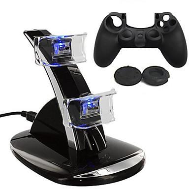 저렴한 PS4 악세사리-충전기 / 게임 컨트롤러 케이스 보호대 제품 PS4 ,  충전기 / 게임 컨트롤러 케이스 보호대 실리콘 / ABS 1 pcs 단위