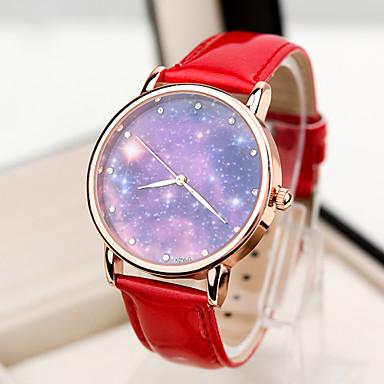 Dames Modieus horloge Kwarts Legering Band Zwart Wit Blauw Rood Groen Roze