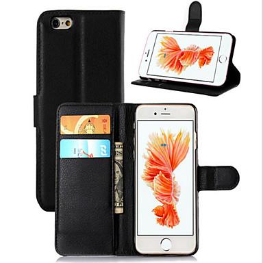 Για Θήκη iPhone 6 / Θήκη iPhone 6 Plus Πορτοφόλι / Θήκη καρτών / με βάση στήριξης / Ανοιγόμενη tok Πλήρης κάλυψη tok Μονόχρωμη Σκληρή