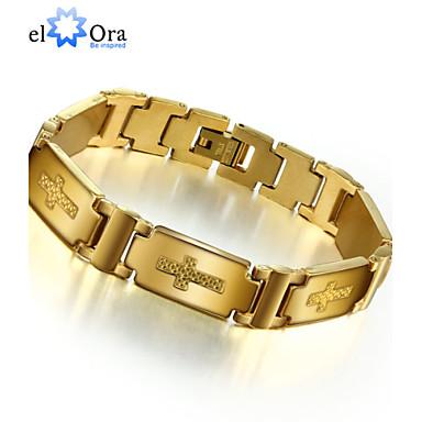 Heren Armbanden met ketting en sluiting Armband Uniek ontwerp Vintage Feest Werk Informeel Modieus Roestvast staal Titanium Staal Anderen