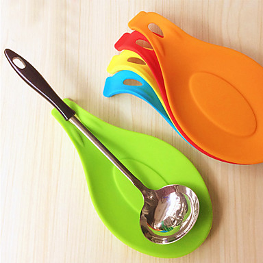 Silicone Spoon Insulation Mat Placemat Coaster Tray Cooking Tools