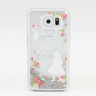 Για Samsung Galaxy Θήκη Ρέον υγρό tok Πίσω Κάλυμμα tok Λάμψη γκλίτερ PC Samsung S6 / S5 / S4