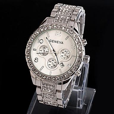 Geneva Γυναικεία Χαλαζίας Ρολόι Καρπού απομίμηση διαμαντιών κράμα Μπάντα Λάμψη / Μοντέρνα Ασημί / Χρυσό