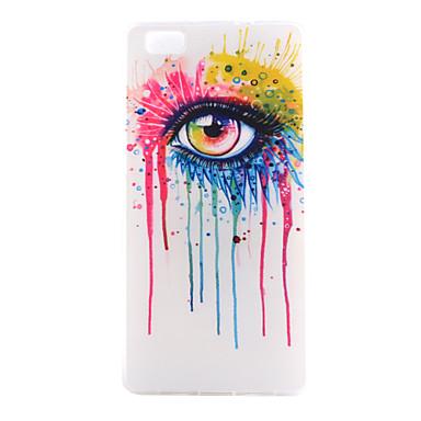 glazen patroon dunne transparante TPU soft phone case voor Huawei p8 lite / p8