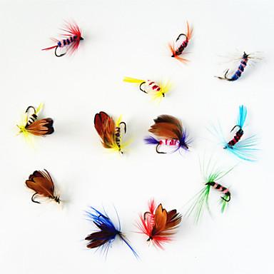 12 pcs Mouches leurres de pêche Mouches Métal Pêche à la mouche