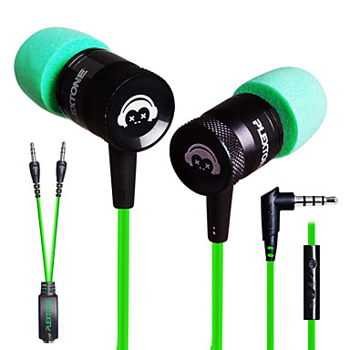 plextone® G10 in-ear e-αθλητικά παιχνίδια σε βαρέα μέταλλα μπάσο ακουστικά με μικρόφωνο για iphone6 / iphone6 συν mobilephone /