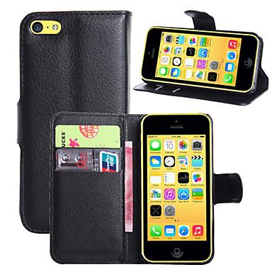luxe pu lederen flip Capa case voor Apple iPhone 5c portemonnee telefoon zak (verschillende kleuren)
