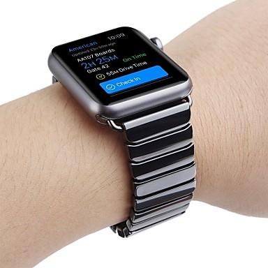 Horlogeband voor Apple Watch Series 3 / 2 / 1 Apple Polsband Butterfly Buckle Keramiek