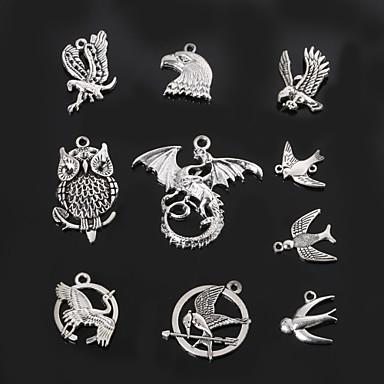 beadia de metal coruja& Pombo& andorinha pingentes charme antigo de prata jóias acessórios DIY