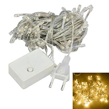 jiawen® 10m οδήγησε 100 θερμαινόμενα λευκά διακοσμητικά φώτα σειράς 8 καναλιών (ετικέτα eu, AC 220v)