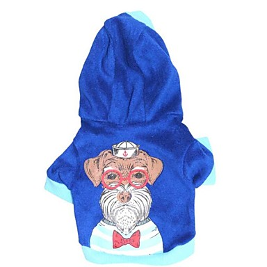 Hond Hoodies Hondenkleding Cartoon Katoen Kostuum Voor huisdieren Heren Casual/Dagelijks