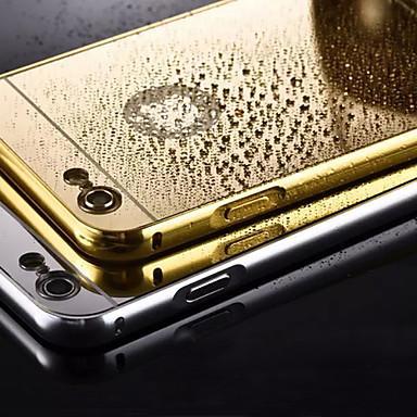 Capinha Para iPhone 5 Apple Capinha iPhone 5 Galvanizado Espelho Capa traseira Côr Sólida Rígida Metal para iPhone SE/5s iPhone 5