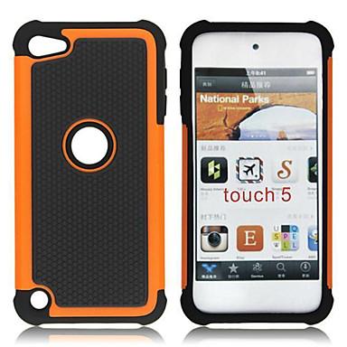 διπλή αποσπώμενο πλαστικό και θήκη από σιλικόνη για το iPod Touch 5 (διάφορα χρώματα)