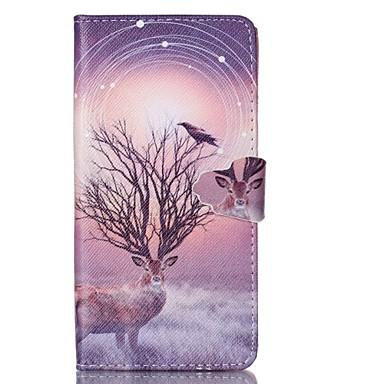 Para Samsung Galaxy Capinhas Porta-Cartão / Carteira / Com Suporte / Flip Capinha Corpo Inteiro Capinha Animal Couro PU SamsungGrand