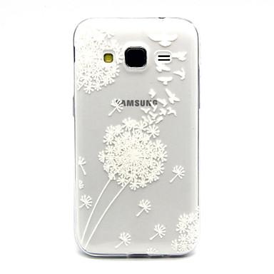 Voor Samsung Galaxy hoesje Hoesje cover Transparant Achterkantje hoesje Paardebloem TPU voor Samsung Galaxy Core