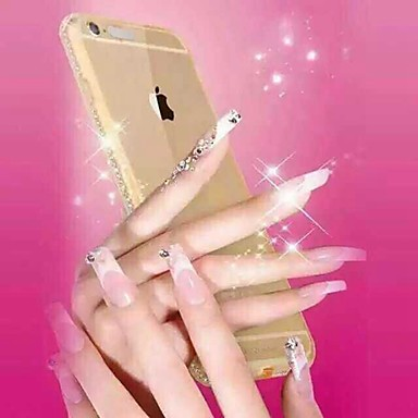 inkomende oproep flash diamanten kader van de bumper rugdekking voor iPhone 6s plus / 6 plus (diverse kleuren)