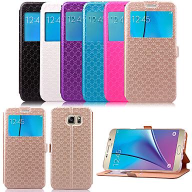 karzea ™ TPU σχήμα διαμαντιού και PU δερμάτινη θήκη με βάση για Samsung Galaxy Note 5 / σημείωση 5 άκρη (διάφορα χρώματα)