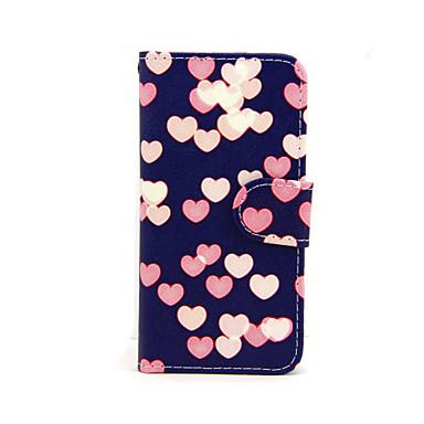tok Για iPhone 5 / Apple Θήκη iPhone 5 Πορτοφόλι / Θήκη καρτών / με βάση στήριξης Πλήρης Θήκη Καρδιά Σκληρή PU δέρμα για iPhone SE / 5s / iPhone 5