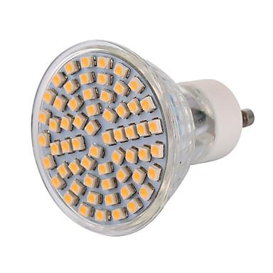 5W GU10 LED-spotlampen MR16 60 leds SMD 3528 Decoratief Warm wit Koel wit 400-500lm 2800-3200/6000-6500K AC 220-240 AC 110-130V
