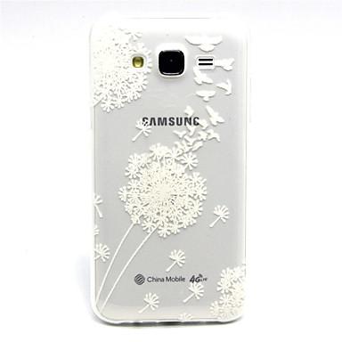 Para Samsung Galaxy Capinhas Case Tampa Transparente Capa Traseira Capinha dandelion PUT para Samsung Galaxy J5