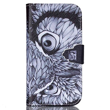 Para Samsung Galaxy Capinhas Carteira / Porta-Cartão / Com Suporte / Flip Capinha Corpo Inteiro Capinha Coruja Couro PU SamsungS6 / S5