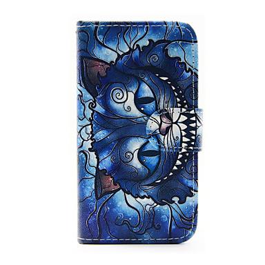 Capinha Para Samsung Galaxy Samsung Galaxy Capinhas Porta-Cartão Carteira Com Suporte Flip Capa Proteção Completa Gato PU Leather para J5