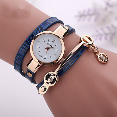 Women's Bracelet Watch Fashion Watch Casual Watch Quartz Imitation Diamond Casual Watch PU Band Bohemian Black White Blue Red