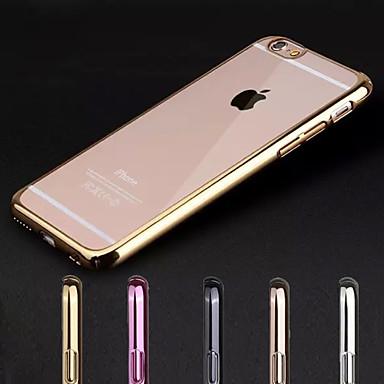 Capinha Para Apple iPhone X iPhone 8 iPhone 7 iPhone 7 Plus iPhone 6 iPhone 6 Plus Galvanizado Transparente Capa Traseira Côr Sólida