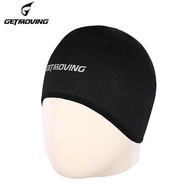 GETMOVING Helmvoering Wielrenbeanie/muts Hoofdzweetband Hoed Schedelmuts Winter Lente Herfst Houd Warm Winddicht Anatomisch ontwerp