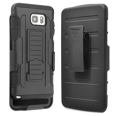 cheap Galaxy Note 3 Cases / Covers-Case For Samsung Galaxy Note 7 / Note 5 / Note 4 Shockproof / with Stand Back Cover Armor PC