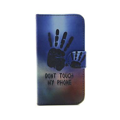 palm van je hand patroon pu lederen full body case met kaartslot en staan voor iphone 5c