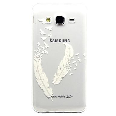 Para Samsung Galaxy Capinhas Case Tampa Transparente Capa Traseira Capinha Penas PUT para Samsung Galaxy J5