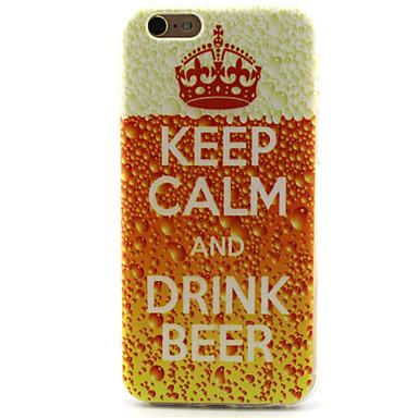 Para iPhone 6 Case Tampa Estampada Capa Traseira Capinha Palavra / Frase Macia PUT para iPhone 6s iPhone 6