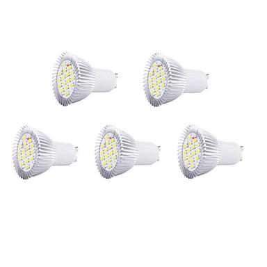 5 stuks 5w gu10 led spotlight 16 smd5630 650lm warm wit koud wit decoratief ac220-240v