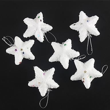 mode vrolijke kerst witte sneeuw sterren voor kerst partij decoratie 6 stuks