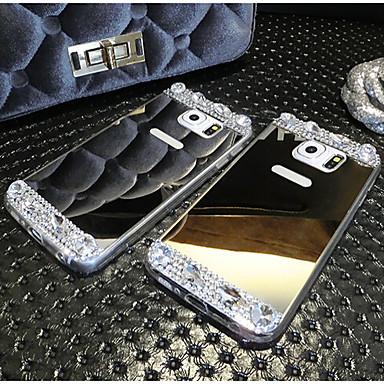 galvanoplastia de alta qualidade espelhado com diamante tampa traseira para samsung galaxy Nota4 / Nota 5 (cores sortidas)