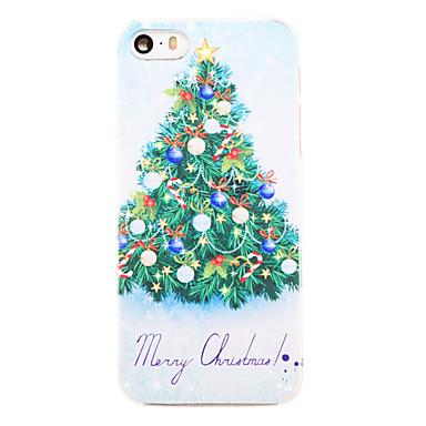 Για Θήκη iPhone 5 Με σχέδια tok Πίσω Κάλυμμα tok Χριστούγεννα Σκληρή PC iPhone SE/5s/5