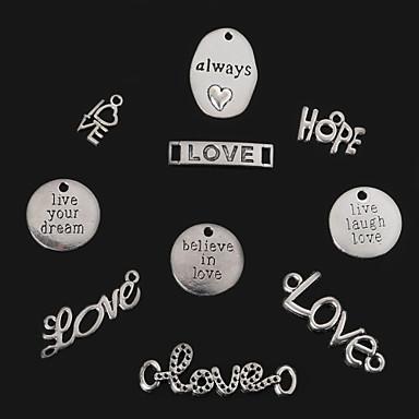 beadia antiek zilver altijd&liefde&hoop&leef lach heb lief&geloof in de liefde&leef je droom metalen charme