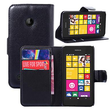 Para Capinha Nokia Carteira / Porta-Cartão / Com Suporte Capinha Corpo Inteiro Capinha Cor Única Rígida Couro PU Nokia Nokia Lumia 530