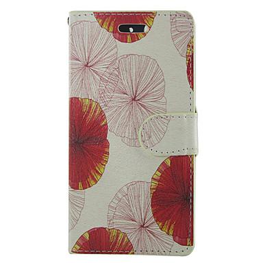 Недорогие Чехлы и кейсы для Galaxy S4 Mini-Кейс для Назначение SSamsung Galaxy S5 Mini / S5 / S4 Mini Кошелек / Бумажник для карт / со стендом Чехол Цветы Кожа PU