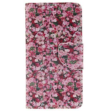 Para Samsung Galaxy Capinhas Porta-Cartão / Com Suporte / Flip / Estampada / Magnética Capinha Corpo Inteiro Capinha Flor Couro PU Samsung
