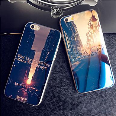 Para iPhone X iPhone 8 iPhone 8 Plus iPhone 6 iPhone 6 Plus Case Tampa Estampada Capa Traseira Capinha Vista da cidade Macia Silicone para