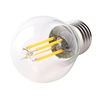 1pc 4W 360lm E26 / E27 Ampoules à Filament LED G45 4 Perles LED COB Décorative Blanc Chaud Blanc Froid 220-240V