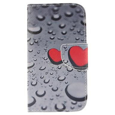 Για Samsung Galaxy Θήκη Πορτοφόλι / Θήκη καρτών / με βάση στήριξης / Ανοιγόμενη tok Πλήρης κάλυψη tok Καρδιά Συνθετικό δέρμα Samsung S3