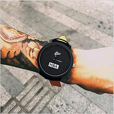 Homens Relógio de Moda Relógio de Pulso Quartzo Relógio Casual Couro Banda Legal Preta