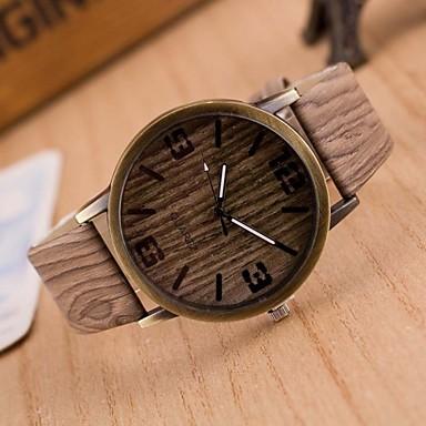זול שעוני גברים-בגדי ריקוד גברים שעוני אופנה עץשעון Japanese קווארץ דמוי עור מרופד חום / אפור 30 m שעונים יום יומיים אנלוגי קסם - 4# 5# 6# שנתיים חיי סוללה