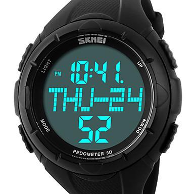 Homens Relógio de Pulso Relógio Esportivo Digital Alarme Calendário Cronógrafo Impermeável Relógio Esportivo LCD PU Banda Luxo Preta Verde